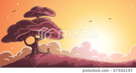 Big Tree at Sunset 67888195