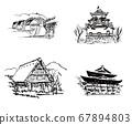 Japanese tourist destination set 67894803