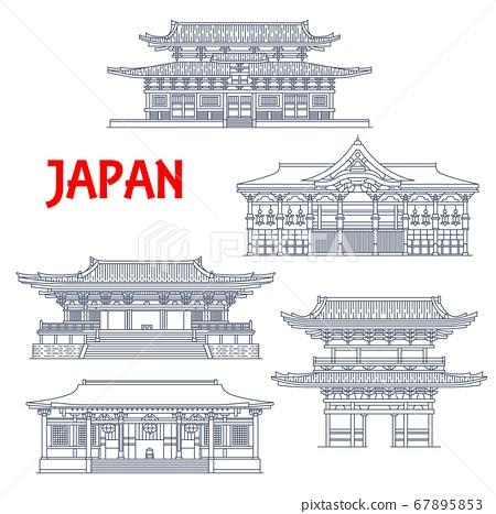 Japan temples, Japanese pagoda buildings Kyoto 67895853