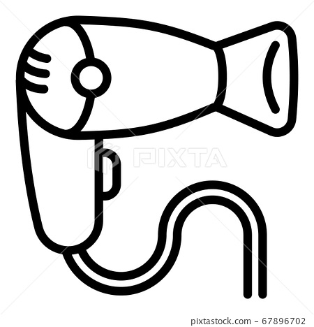 Modern hair dryer icon, outline style 67896702