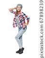 Smiling relaxed teen girl standing in full length 67898239