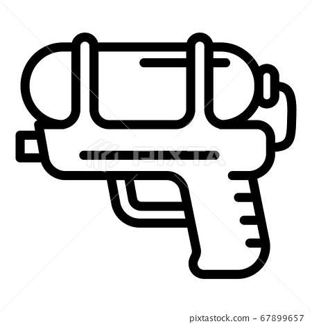Kid water pistol icon, outline style 67899657