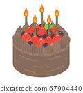딸기 생일 케이크 일러스트 67904440