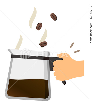 Coffee server and coffee beans 67907972
