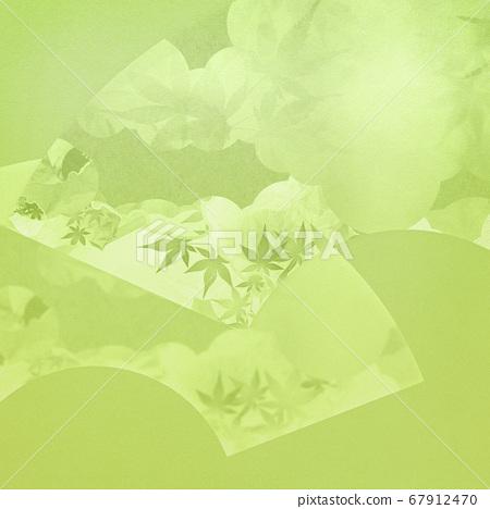 帶有風扇圖案的綠色背景 67912470