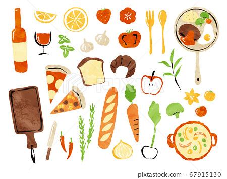 家庭聚會風格的熟食和烹飪 67915130