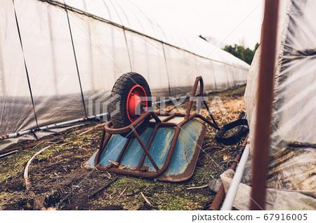 농사 밭에서 사용 외발 자전거 깊이 형식 옆 67916005