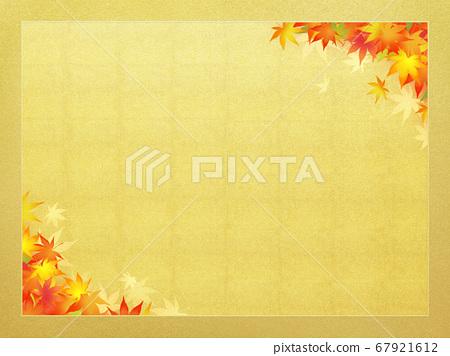 表達日本秋天的金框 67921612