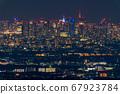 《東京》東京的夜景,超遠攝 67923784