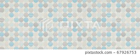 일본식 디자인 배경 소재 - 물방울 - 마루 - 패턴 - 섬유 67926753