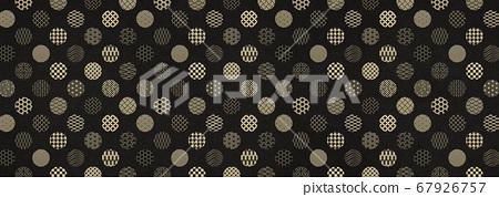 일본식 디자인 배경 소재 - 물방울 - 마루 - 패턴 - 섬유 67926757