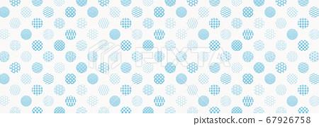 일본식 디자인 배경 소재 - 물방울 - 마루 - 패턴 - 섬유 67926758