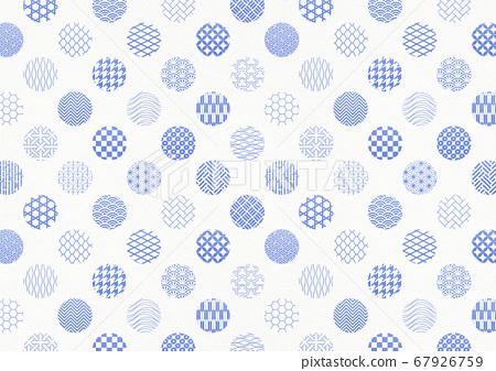 일본식 디자인 배경 소재 - 물방울 - 마루 - 패턴 - 섬유 67926759