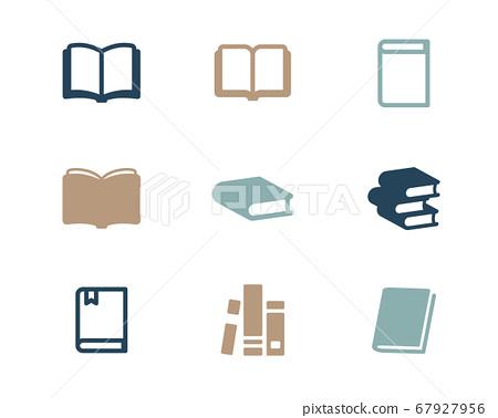 一套簡單的書圖標/商業/研究/標記/閱讀 67927956