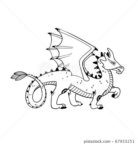 Magical creatures set. Mythological animal - 67933251