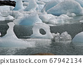 Ice thaw in an Argentine lake 67942134