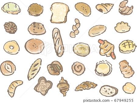 圖標樣式蓬鬆麵包 67949255