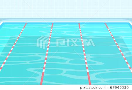 Swimming Pool Summer Holiday Healthy Sport Cartoon Stock Illustration 67949330 Pixta