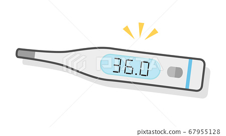 Color illustration of thermometer 36.0℃ Normal heat 67955128