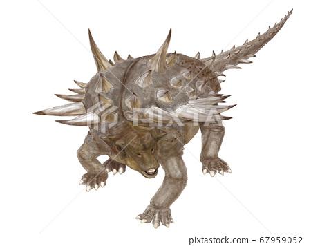 加斯托尼亞(Gastonia)一種生活在白堊紀早期的裝甲龍。頭部的特徵是甲龍,但尾巴的末端沒有錘子。 67959052