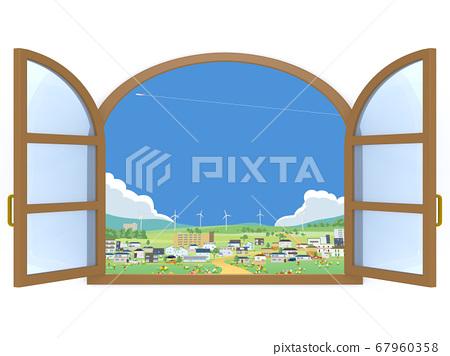 窗口鎮風光通風 67960358