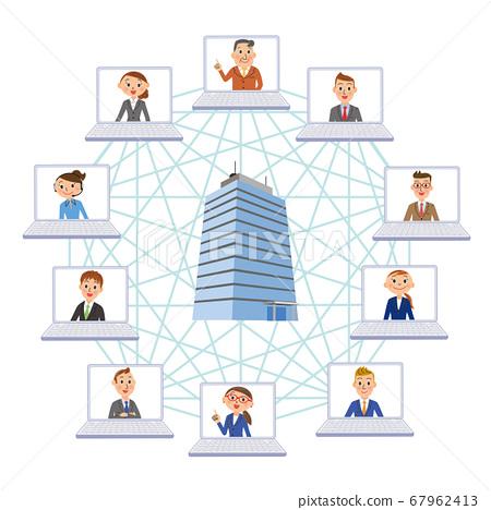 企業遠程辦公遠程世界業務 67962413