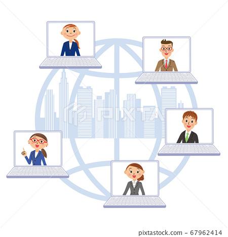 비즈니스 빌딩 네트워크 동료 67962414
