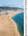 beautiful seaside resort of Nazare in Portugal 67963886
