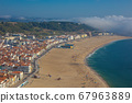 beautiful seaside resort of Nazare in Portugal 67963889