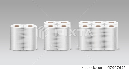 Plastic roll tissue paper long roll three product, two rolls, four rolls, six rolls, collection  67967692