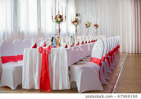 Decoration of a hall for a wedding 67969198
