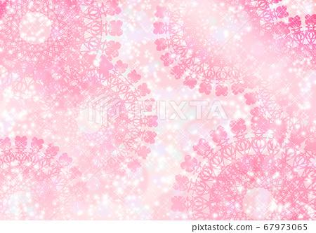鉤針編織蕾絲粉紅色 67973065