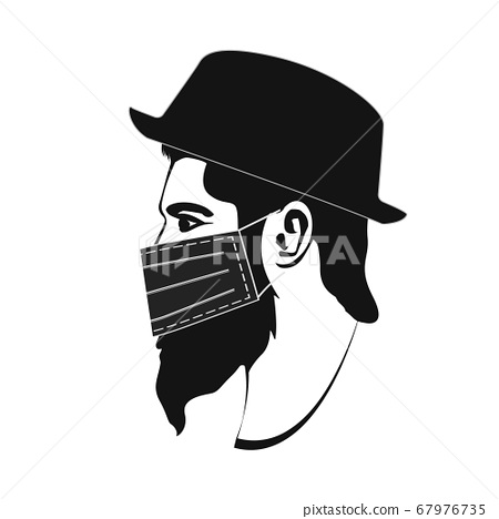 Hipster Character with blindfold, hat, mask eps10 67976735