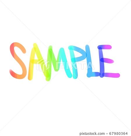 Rainbow sample stamp 67980364