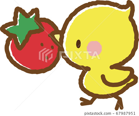 Chick and strawberry 67987951