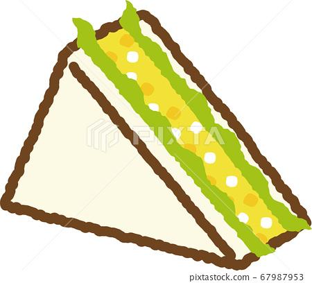Egg sandwich 67987953