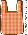 붉은 에코 가방 67987958