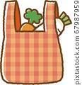 紅色環保袋(購物後) 67987959
