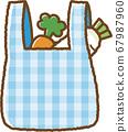 藍色環保袋(購物後) 67987960