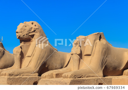 Alley of sphinxes at Karnak Temple Complex 67989334