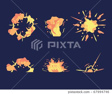 Cartoon explosion set 67994746