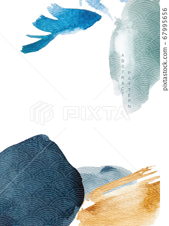 Abstract art background with watercolor texture 67995656