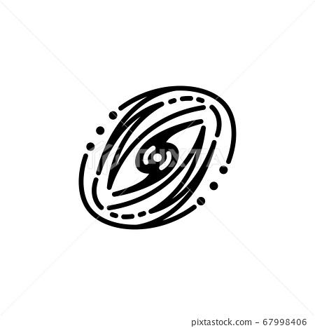 Galaxy icon vector. Galaxy simple sign, logo 67998406