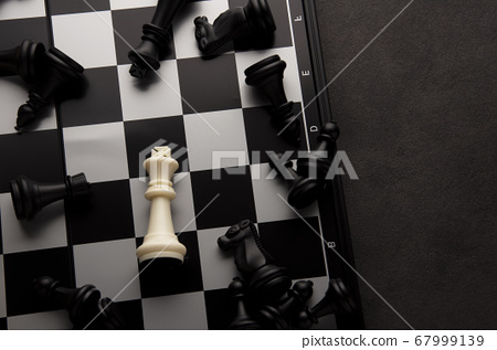 Idea of Business strategy on chess board game.  67999139