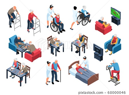 Nursing Home Isometric Set  68000046