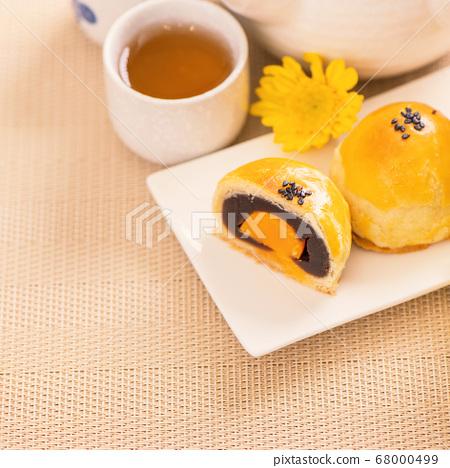 中秋節 蛋黃酥 月餅 特寫 Moon Festival yolk pastry cake げっぺい 68000499