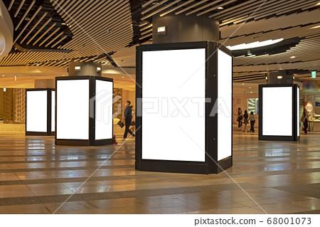 地下商場百貨公司屏幕廣告樣機背景 68001073