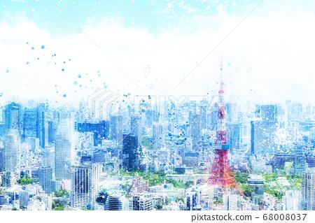 在東京的城市景觀 68008037