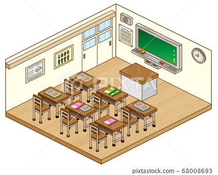 學校教室 68008693