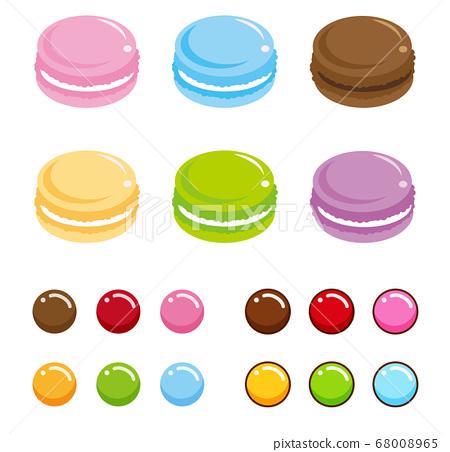 Macaron and round chocolate 68008965